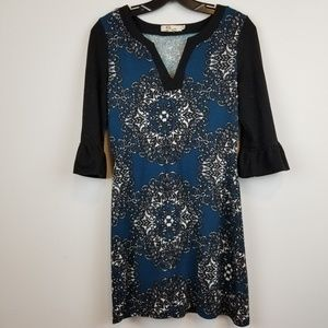Aryeh Anthropologie 3/4 bell sleeve sweater dress